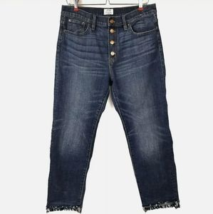 J Crew Straightaway High Rise Let Out Hem Jeans 28